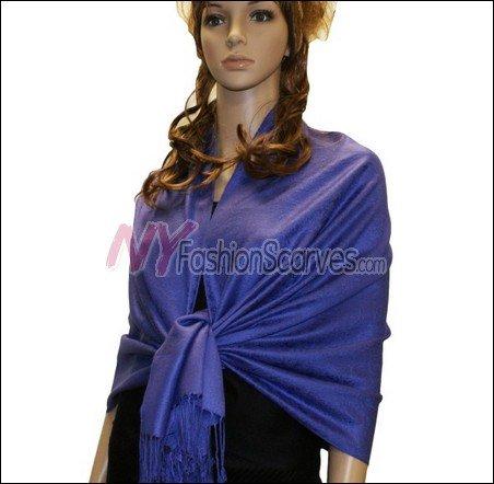 Paisley Jacquard Pashmina<br>Blue Violet