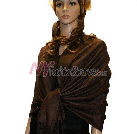 Paisley Jacquard Pashmina<br>Dark Bronze