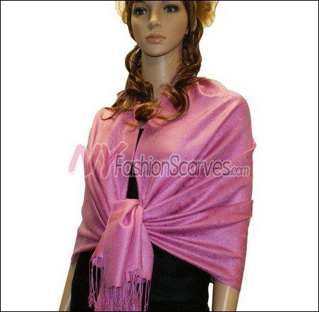 Paisley Jacquard Pashmina<br>Maroon Pink
