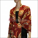 Multi Colored Circle Pashmina <br>Red