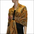 Multi Colored Circle Pashmina <br>Orange Yellow