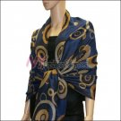 Multi Colored Circle Pashmina <br>Royal Blue