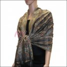Paisley Grid Shawl <br>#NY052-05