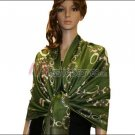 Abstract Circle Shawl<br>Army Green