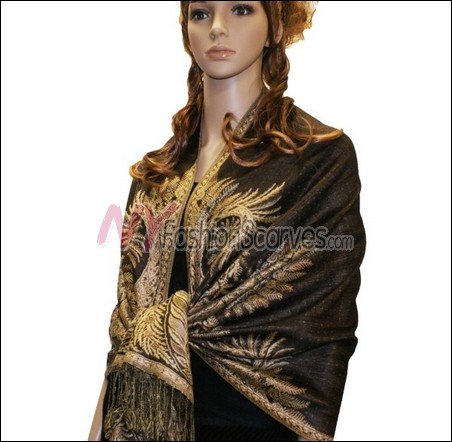 Big Paisley Thicker Pashmina <br>Coffee
