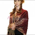 Big Paisley Thicker Pashmina <br>Jujube Red