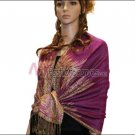 Big Paisley Thicker Pashmina <br>Magenta