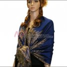 Big Paisley Thicker Pashmina <br>Royal Blue