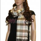 Plaid Cashmere Feel Scarf <br>NY34-03