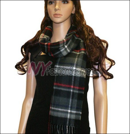 Plaid Cashmere Feel Scarf <br>NY43-01