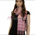 Checker Cashmere Feel  Scarf <br>NY38-02