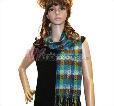 Checker Cashmere Feel  Scarf <br>NY41-03