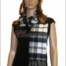 Checker Cashmere Feel  Scarf <br>NY48-01
