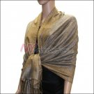 Border Patterned Pashmina<br>Pale Goldenrod