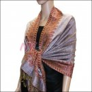 Border Patterned Pashmina<br>Light Purple