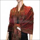 Small Paisley Pashmina <br>Jujuba Red