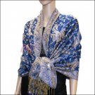 Small Paisley Pashmina <br> Royal Blue