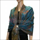 Small Paisley Pashmina <br>Turquoise