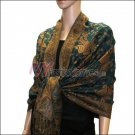 Small Paisley Pashmina <br>Dark Green