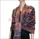 Small Paisley Pashmina <br>Navy w/ Rust Red