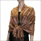 Multi Circle Soft Pashmina <br>Black w/ Light Tan