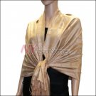 Multi Circle Soft Pashmina <br>Tan w/ Beige