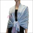 Multi Circle Soft Pashmina <br>Light Purple w/ Sky Blue
