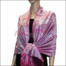 Multi Circle Soft Pashmina <br>Fuchsia Red
