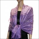 Multi Circle Soft Pashmina <br>Deep Purple w/ Medium Purple