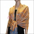 Multi Circle Soft Pashmina <br>Medium Blue w/ Orange