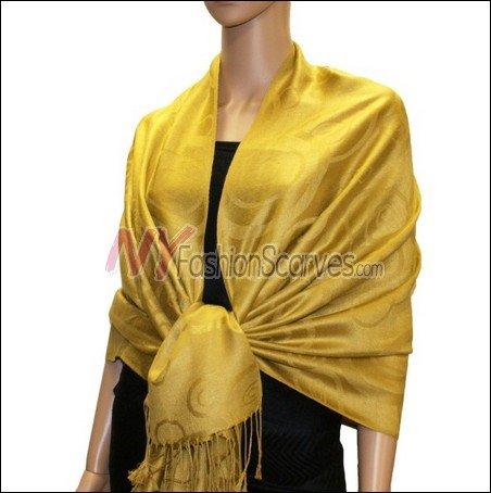 Multi Circle Soft Pashmina <br>Goldenrod