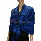 Multi Circle Soft Pashmina <br>Royal Blue