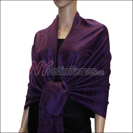Multi Circle Soft Pashmina <br>Deep Purple