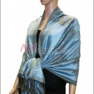Rose Pattern Pashmina <br>Sky Blue