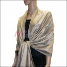 Rose Pattern Pashmina <br>Grey w/ Beige