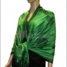 Rose Pattern Pashmina <br>Green
