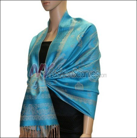 Paisley Pattern Scarf <br>Teal