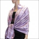 Paisley Pattern Scarf <br>Light Purple