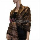 Paisley Pattern Scarf <br>Dark Brown