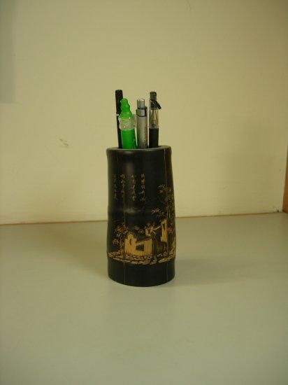 Simple Art Bamboo Pen Pot