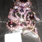 purple pin/brooch