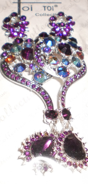 dazzling purple earrings