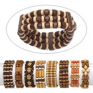 8 Chinese Little leaf Boxwood stretch bracelets