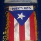 "Mini Banner- 4"" x 6""- Puerto Rico Flag"