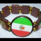 Stretch Wood Bracelet - Mexico - Flag and Guatelupe