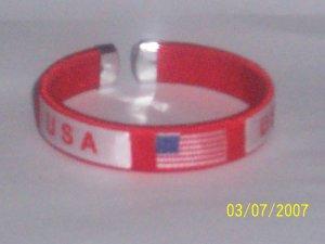 USA Flag Bangle - Red