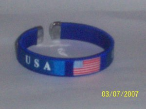 USA Flag Bangle - Blue
