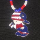 Puerto Rico Boy w/ Flag Beaded 20 ""