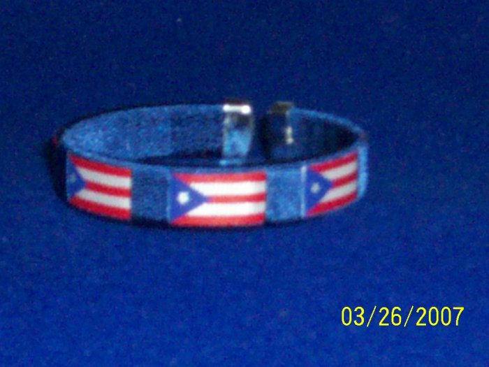 Puerto Rico - Flag Bangle - Blue