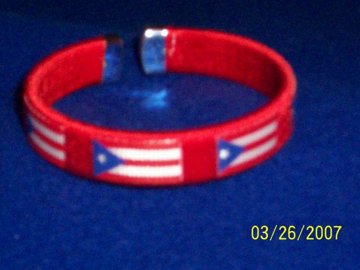 Puerto Rico - Flag Bangle - Red